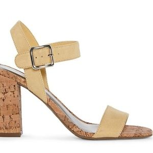 Cork Yellow Heeled Sandals